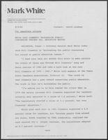 Press release from Mark White for Governor regarding Clements' record on teachers pay and education, August 5, 1982