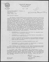 Letter from Governor Bill Clinton to William P. Clements, May 7, 1979