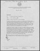 Group of documents regarding Governor William P. Clements, Jr.'s, membership in the National Governor's Association Subcommittee on the Environment, March 1980