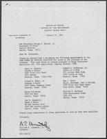 Appointment letter from William P. Clements Jr. to George Bayoud, January 19, 1990