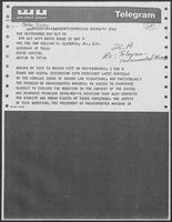 Telegram from Jimmy Cater to William P. Clements, Jr., regarding undocumented aliens, May 9, 1979