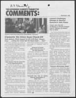 Newsletter titled The Governor Clements Committee Comments: March/April, 1980