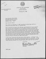 Letter to Mark White From William P. Clements, February 22, 1980