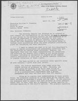 Letter from Edward Schmults, Department of Justice, to William P. Clements, Jr., April 16, 1981