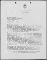 Letter from David A. Dean to Judy Peachee, July 10, 1981
