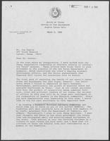 Letter from William P. Clements to Joe Guerra, March 11, 1988
