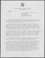 Press Release from office of Attorney General of Texas Mark White, January 15, 1981