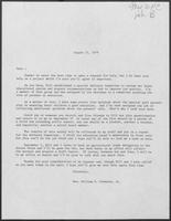 Form letter from Mrs. William P. Clements, Jr., regarding a special advisory committee to study education, undated