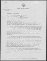 Memorandum from Jarvis E. Miller to William P. Clements, Jr., July 24, 1981