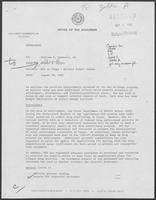 Memorandum from Jarvis E. Miller to Governor William P. Clements, Jr., August 20, 1982