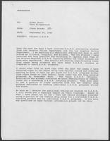 Memo from Glenn Brooks to Rider Scott and Knox Fitzpatrick regarding Project D.A.R.E., September 29, 1989