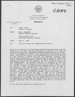 Memo from Barry McBee and Duke Millard to Rider Scott regarding Critical Dates for Gubernatorial Action, May 11, 1989