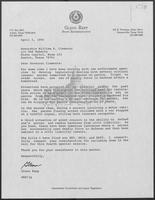 Letter from Glen Repp to William P. Clements, Jr. with attachments, April 5, 1990