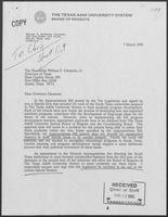 Letter from William A. McKenzie to William P. Clements, Jr. with attached bill, March 7, 1990