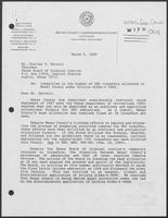 Letter from Tom Vickers to Charles T. Terrell regarding inequities in TDC transfers, March 9, 1990