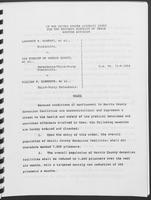 Court Order for Lawrence R. Alberti, et al., Plaintiffs v. the Sheriff of Harris County, et al., January 1990