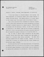 Press release regarding Charles T. Terrell, Chairman, Texas Department of Corrections, January 23, 1989