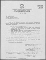 Letter from Jerry Belcher to Rider Scott regarding the Crime Victims Compensation Payout Certification, May 15, 1990