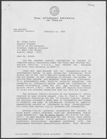 Letter from the Open Government Section of the Opinion Committee to Rider Scott regarding public disclosure for certain information, February 24, 1989