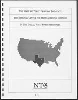 The State of Texas' Proposal to Locate the National Center for Manufacturing Sciences in the Dallas/Forth Worth Metroplex, 1987