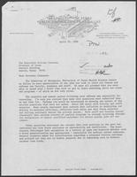 Letter from John A. Shadduck to Governor William P. Clements, Jr., April 25, 1980