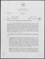 Memo from Rich Thomas to William P. Clements regarding Results of the Meeting on International Bridges, August 3, 1988