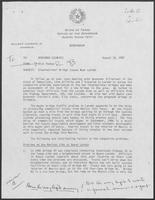 Memo from Rich Thomas to William P. Clements regarding International Bridge Issues Near Laredo, August 18, 1987