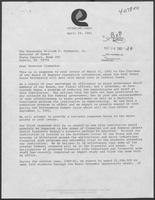 Letter from F. H. (Bub) McDowell to William P. Clements, Jr., April 29, 1981