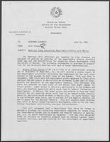 Memo from Rich Thomas to William P. Clements regarding Meetings Today Concerning Maquiladora Efforts with Mexico, June 17, 1987
