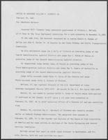 Press release from the Office of Governor William P. Clements, Jr. regarding appointments, February 26, 1981