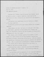 Press release from the Office of Governor William P. Clements, Jr. regarding appointments, April 9, 1979