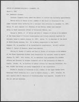 Press release from the Office of Governor William P. Clements, Jr. regarding appointments, March 9, 1981