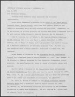 Press release from the Office of Governor William P. Clements, Jr. regarding appointments, May 2, 1980