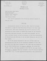 Letters from State Representative Bill Presnal to Mark White, 1979