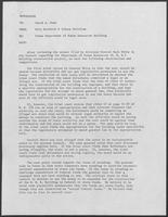 Memo from Milo Burdette and Johnny McCollum to David A. Dean regarding Texas Department of Human Resources Building