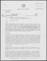 "Memorandum from Jarvis E. Miller to Governor William P. Clements, Jr. titled ""Update - Corpus Christi Port Project - Deepening to 45-feet and Dredge Disposal Area,"" November 29, 1982"