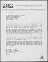 Letter from Richard Bean to Rider Scott, March 19, 1990