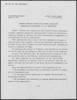 Press release regarding the establishment of the Commission on the Bicentennial of U.S. Constitution, March 5, 1987