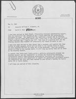 Memorandum from David A. Dean to Governor William P. Clements, Jr., May 13, 1980
