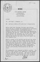 Memo from David A. Dean to William P. Clements regarding Bullock & White tift with D.A's Association, June 9, 1980