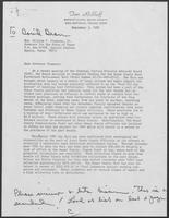 Letter to William P. Clements Jr. from Tom Rickhoff, with related memo from David Dean, September 3, 1980