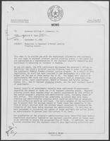 Memo from David A. Dean to William P. Clements regarding criminal justice grants, 4 September 4, 1981