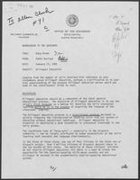 Memo from Eddie Aurispa to William P. Clements regarding Bilingual Education, January 13, 1981