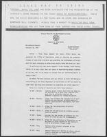 Press release from the Texas House of Representatives authored by Gib Lewis, February 19, 1987