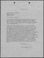 Correspondence between William P. Clements to General Nader Jahanbani, October 9-20, 1973
