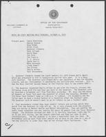 Meeting notes regarding Ixtoc I oil spill and Texas Southern University,  October 4, 1979