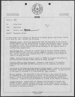 Memo from David A. Dean, to Allen Clark, thru Doug Brown, regarding management review, March 31, 1981