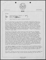 Memo from David A. Dean to Governor William P. Clements, Jr., regarding state funding for juvenile probation subsidies, September 19, 1980