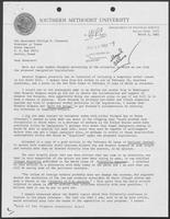 Letter from R. Richard Rubottom to Governor William P. Clements, Jr., March 3, 1982