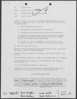 Memo from Johnny R. McCollum to David A. Dean regarding Alternatives to TDC's Overcrowding, April 6, 1981